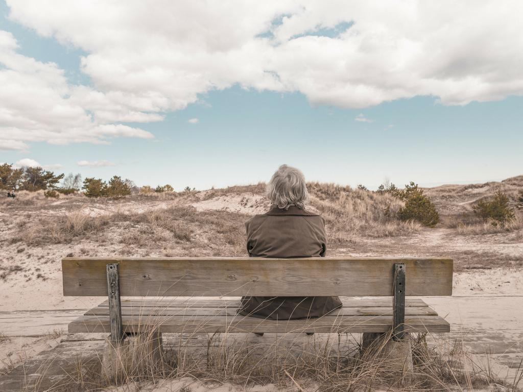bench in desert